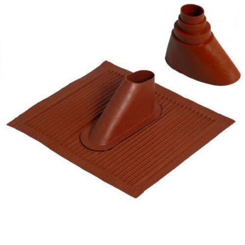 Dachpfanne Alu Rot mit Gummimanschette