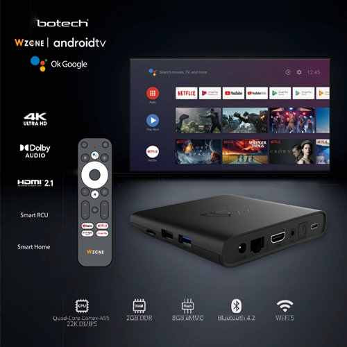 GigaBlue x Botech WZONE 4K ANDROID 10 TV Box HDR60Hz / HDMI2.1 Streaming Empfänger